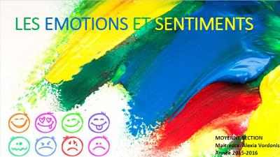 Les emotions et sentiments